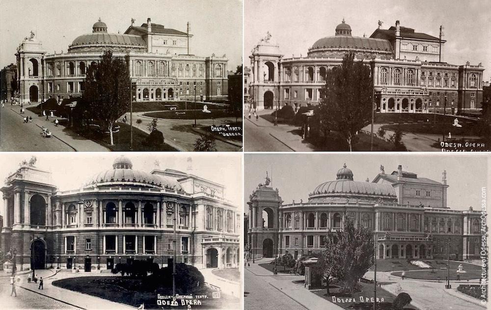 Общие виды театра, классический ракурс с балкона бывшей гостиницы «Европейская»