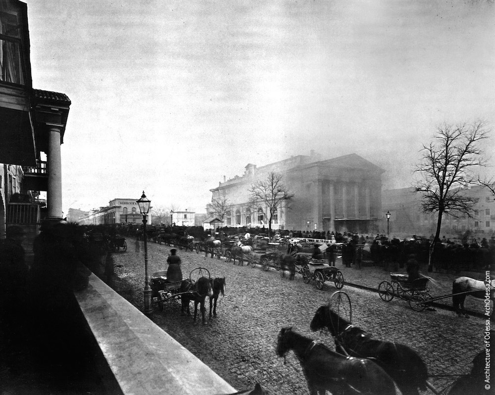 Оперный театр. Пожар Городского театра, одно из немногих фотографических свидетельств