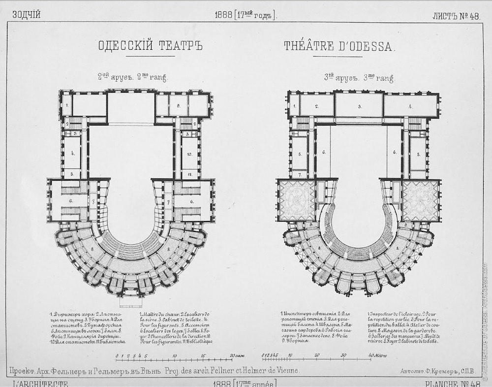 Поэтажный план, опубликовано в журнале «Зодчий»