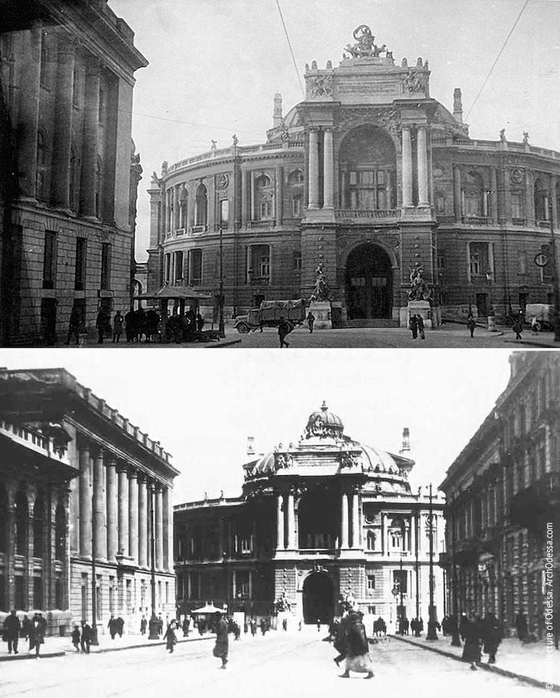 Вид театра со стороны Ришельевской