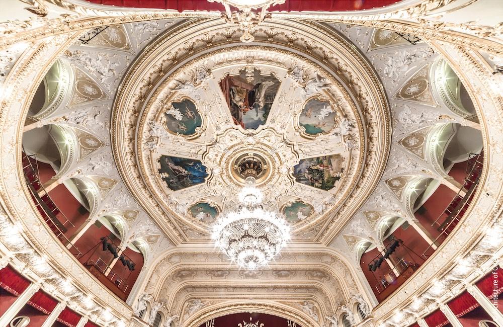 Плафон потолка, общий вид со стороны центрального входа