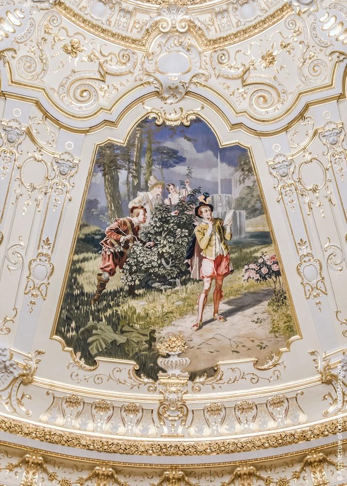 Одно из расписных полотен на тематику произведений Шекспира («Двенадцатая ночь, или Что угодно»)