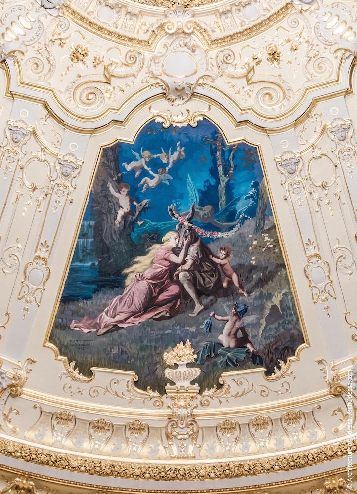 Одно из расписных полотен на тематику произведений Шекспира («Сон в летнюю ночь»)