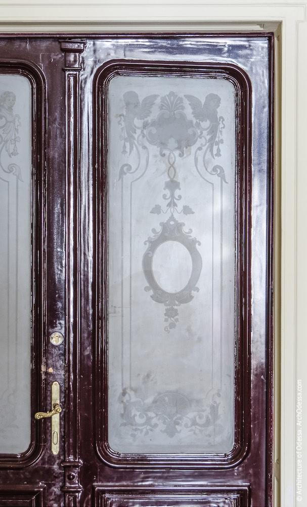 Дверное стекло с травлением