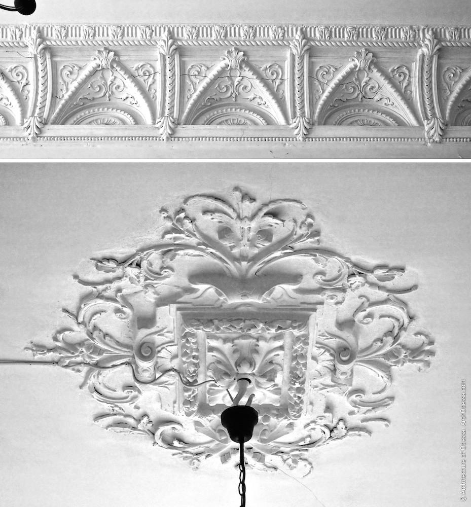 Детали потолка над лестничной клеткой
