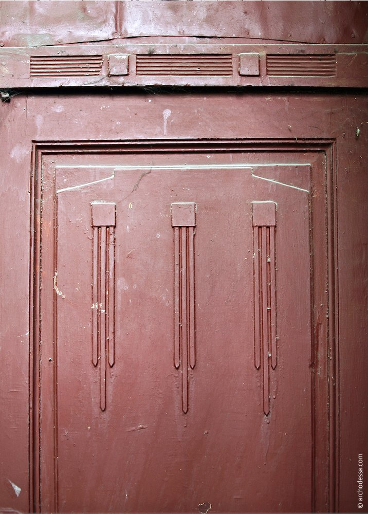 Apartment door(panel variant), décor of the lower part of the leaf
