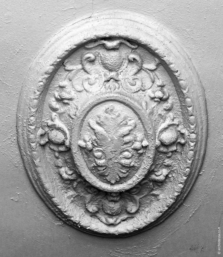 Ceiling of the staircase, rosette