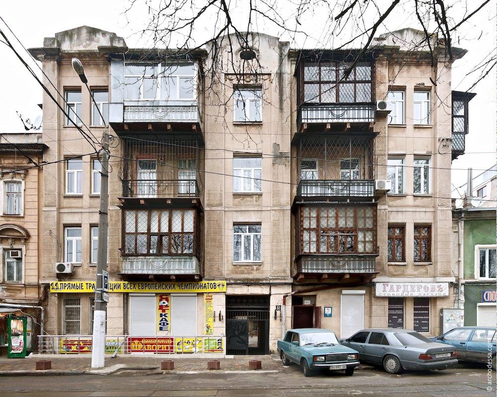 Architecture of Odessa. 32, Panteleymonovskaya Street.