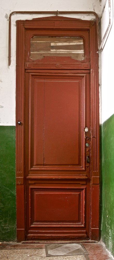 Panel door (side wing entrance hall)