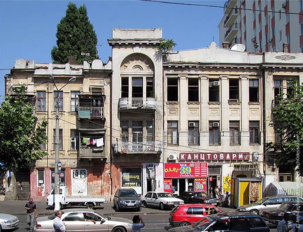 Общий вид дома В. А. Дубинина и доходного дома Фукс (слева)