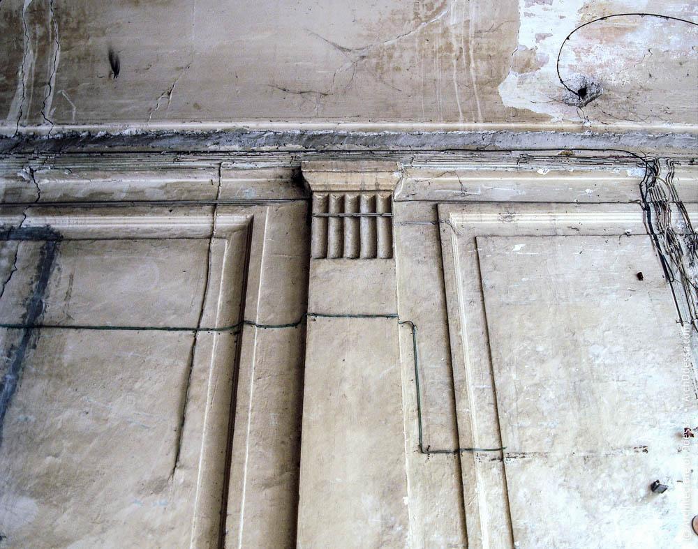 Фрагмент отделки вестибюля доходного дома и гастрономического магазина В. А. Дубинина