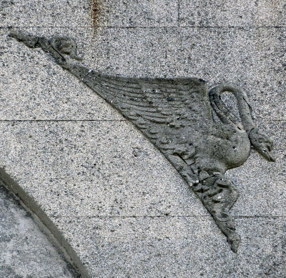 Барельеф на фронтоне (правосторонний вариант)