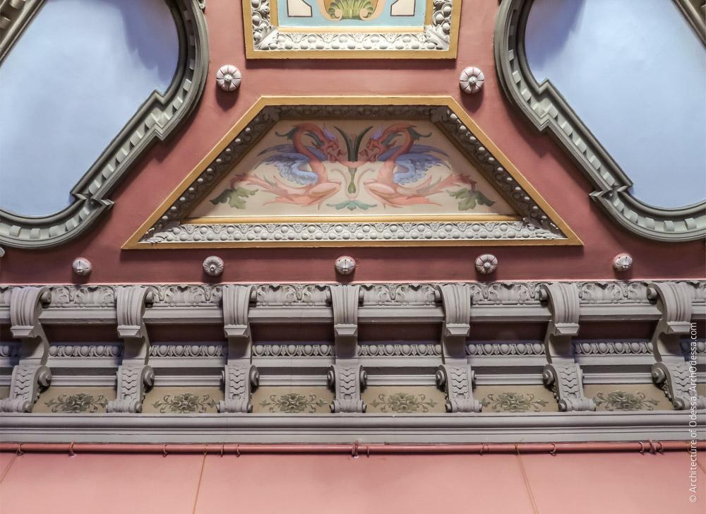 Потолок, торцевая филенка
