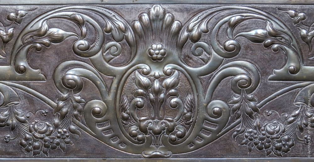 Камин, фрагмент инкрустации