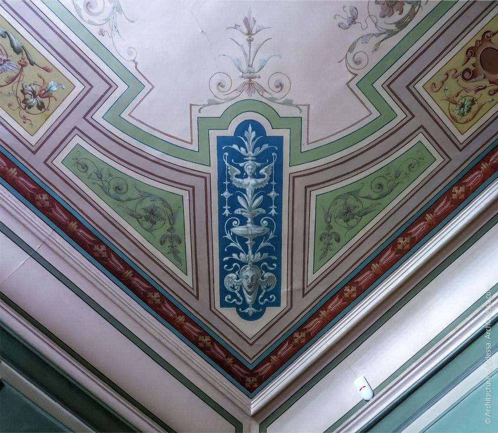 Потолок, деталь росписи