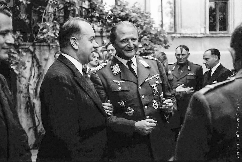 Прием во дворце 3 июня 1943 года, который губернатор Одессы Алексяну устроил заезжему генералу вермахта Мослар-Шаде