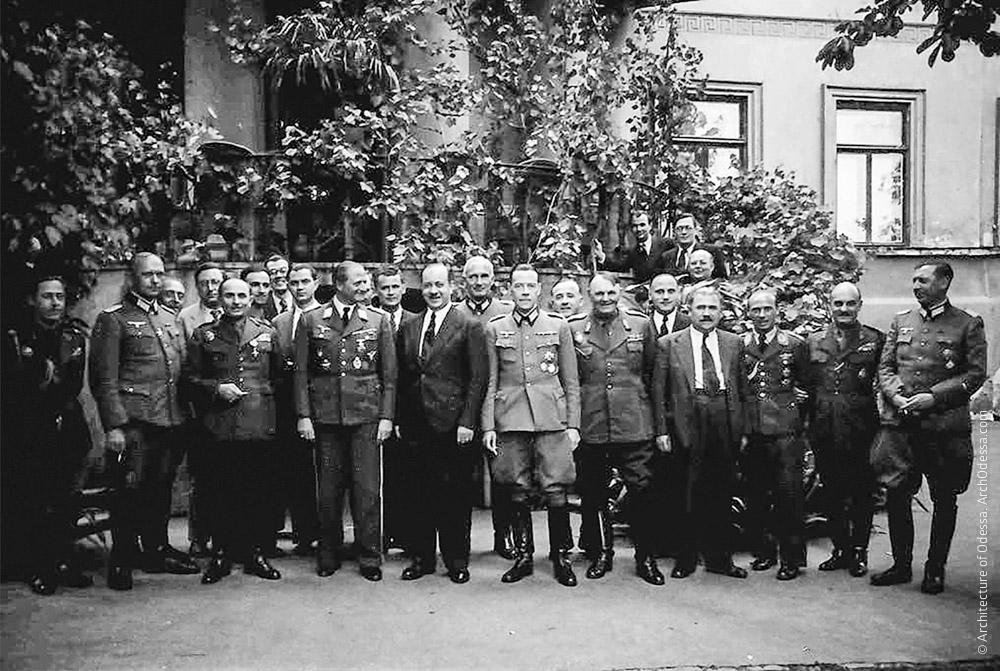 Прием во дворце 3 июня 1943 года, который губернатор Одессы Алексяну устроил заезжему генералу вермахта Мостар Шаде