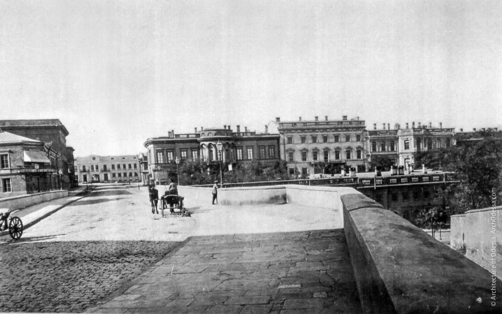 Вид Сабанеева моста и усадьбы, 1870-е г.г.