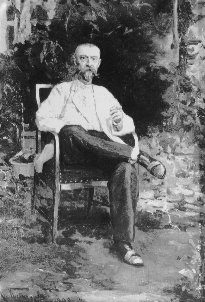 М. М. Толстой в саду, портрет Н. Д. Кузнецова, 1892 г.