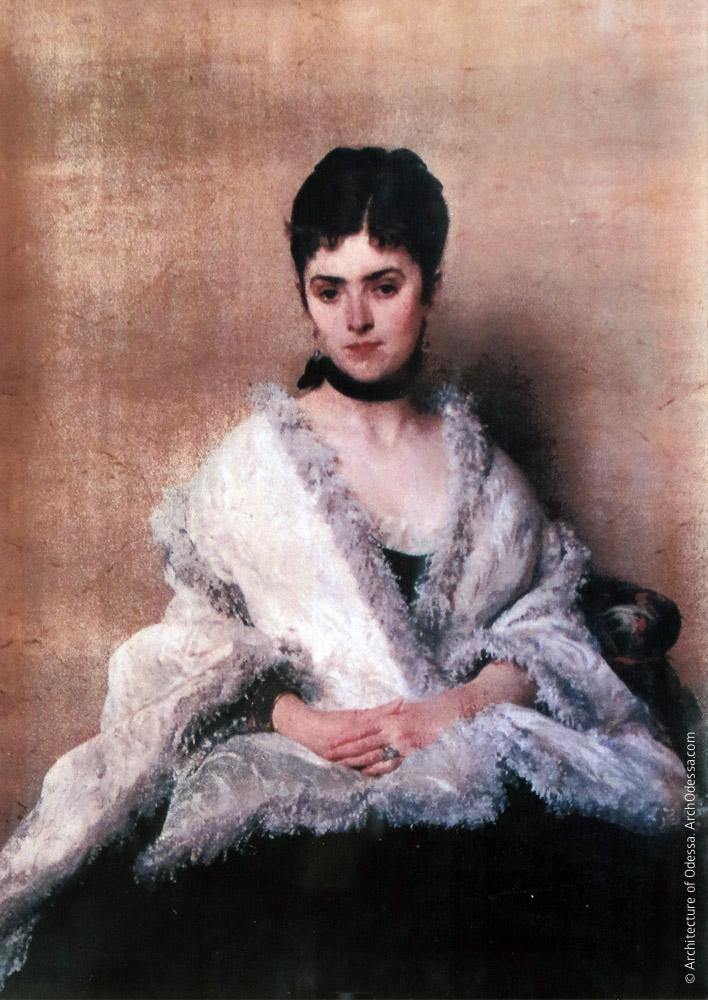 Е. Г. Толстая, портрет кисти Д. Морелли, 1875 г.