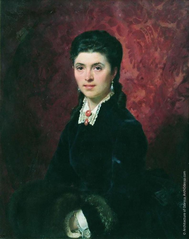 Е. Г. Толстая, портрет кисти Ф. Бронника, 1872 г.