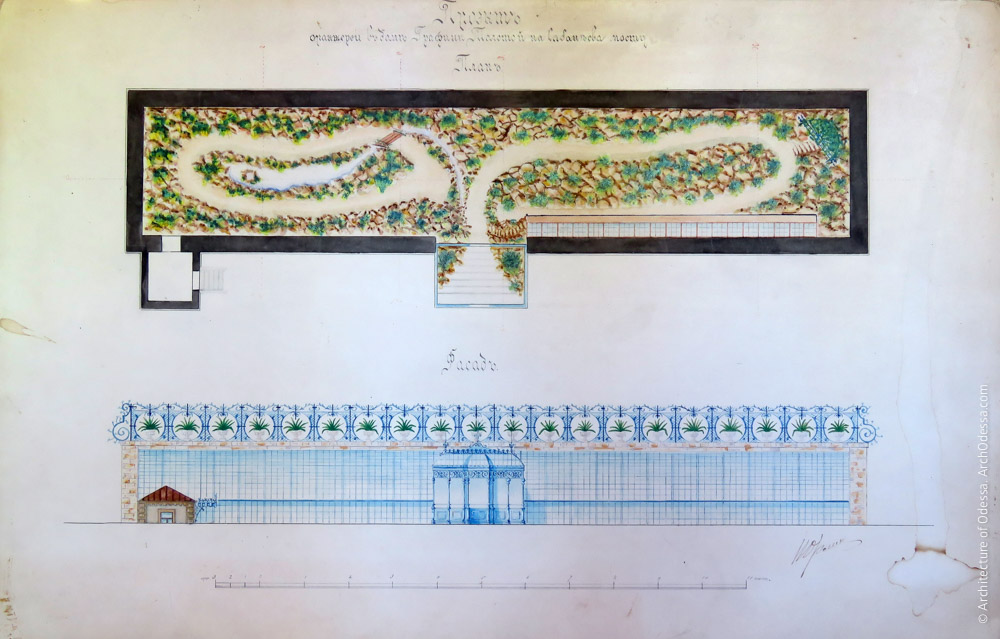 Проект оранжереи, фасад и план