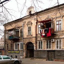 Дом А. Каца с доходными флигелями на Базарноой, 28