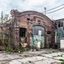 Краян. Комплекс строений старого паровозного депо
