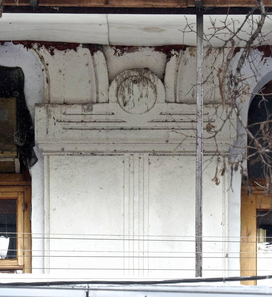 Décor du trumeau au deuxième étage