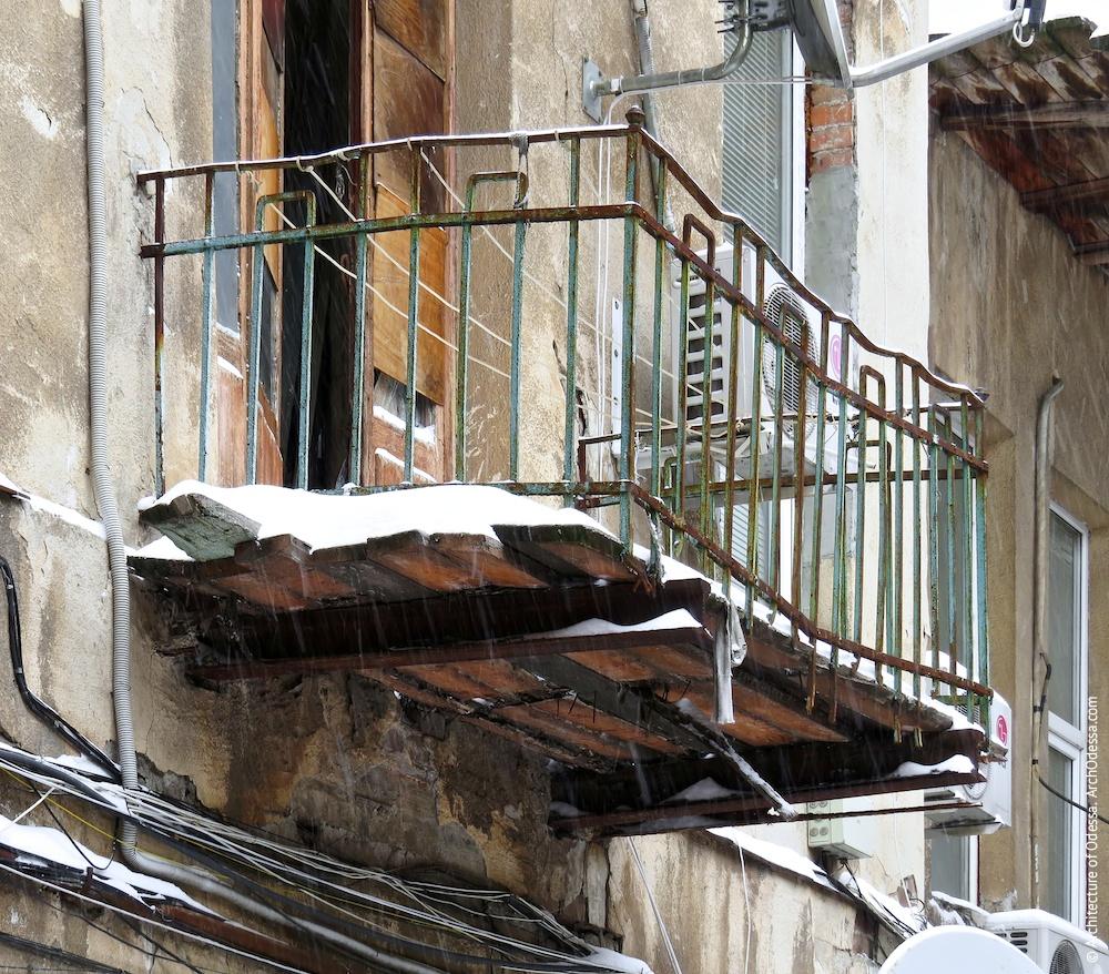 Балкон службових сходів