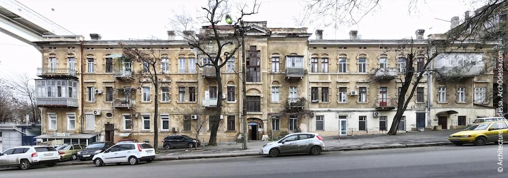 Туризм в Одесі. Військовий узвіз, 1. Прибутковий будинок Є. Воронцової-Дашкової