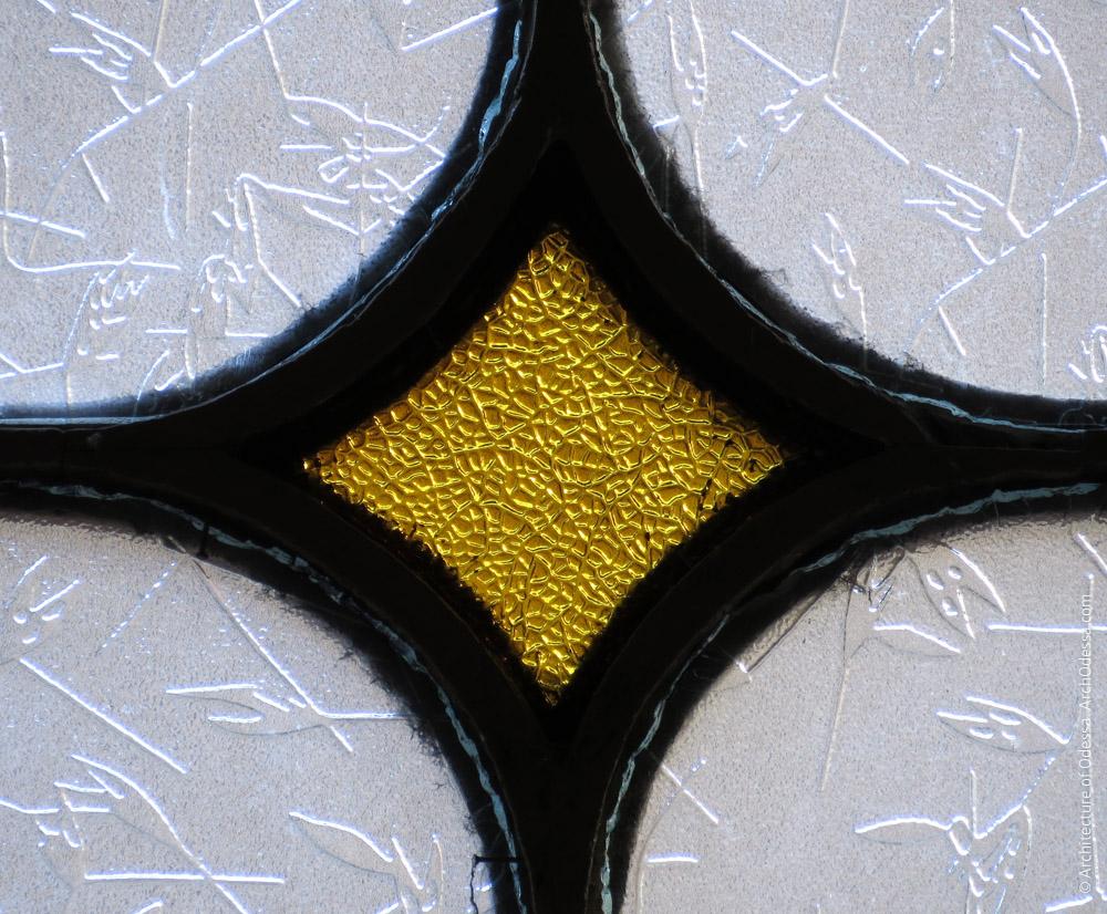 Окно-фрамуга, фрагмент переплета