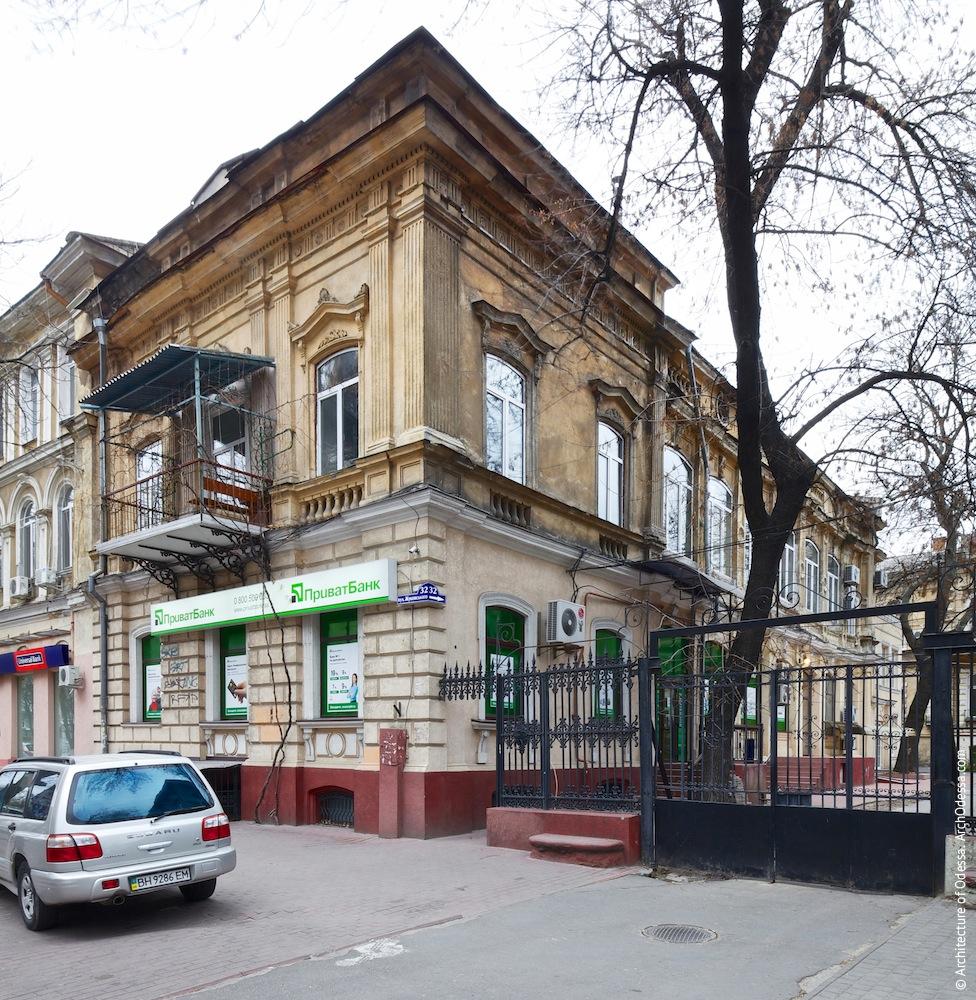 Жуковского, 32. Усадьба Параскева. Лицевой фасад